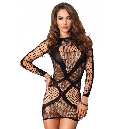 Leg Avenue Multi Fishnet Mini Kjole