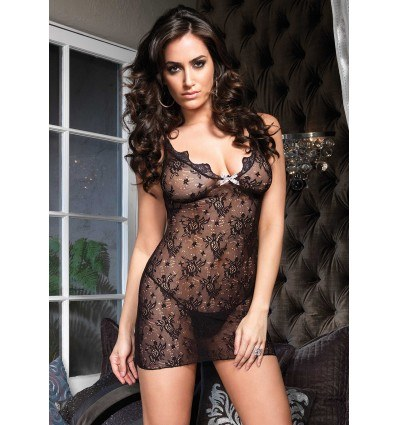 Leg Avenue Boudoir Rose Mini Kjole