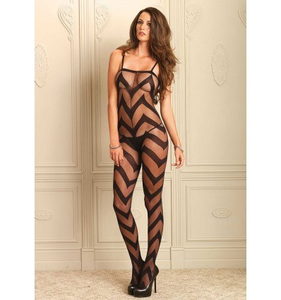 Leg Avenue Catsuit Med Zigzag Linjer